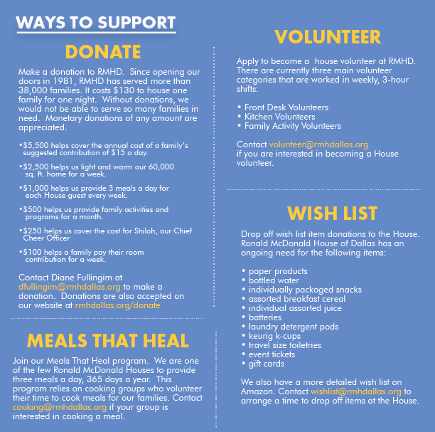 ways to support